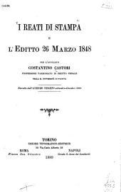 I reati di stampa e l'editto 26 marzo 1848