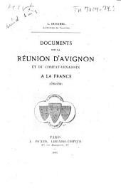 Documents sur la réunion d'Avignon et du Comtat