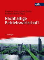 Nachhaltige Betriebswirtschaft PDF