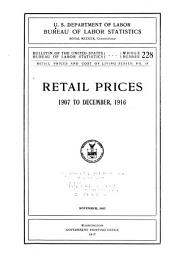 Retail prices and cost of living series: Issues 18-19