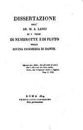 Dissertazione su i versi di Nembrotte e di Peuto nella Divina Commedia di Dante