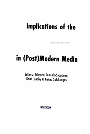 Implications of the Sacred in  post modern Media PDF
