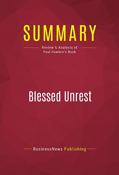 Summary  Blessed Unrest PDF