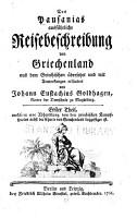 Des Pausanias ausf  hrliche reisebeschreibung von Griechenland PDF
