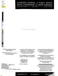Canadian Journal of Public Health PDF