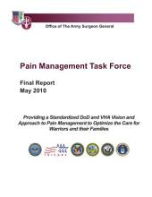 Pain Management Task Force: Final Report