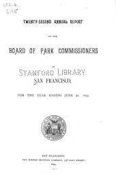 Annual Report of the Board of Park Commissioners of San Francisco
