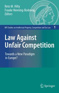 Law Against Unfair Competition Book