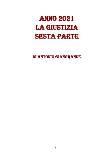 ANNO 2021 LA GIUSTIZIA SESTA PARTE PDF