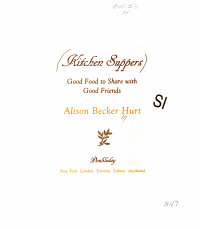 Kitchen Suppers Book PDF