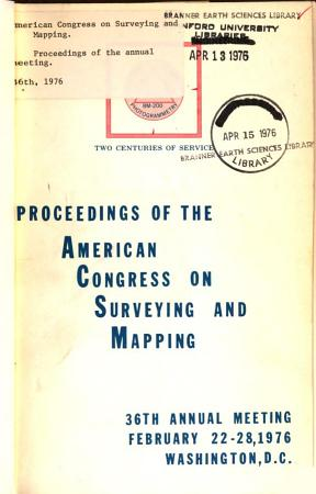 Proceedings of the American Congress on Surveying and Mapping     Annual Meeting PDF
