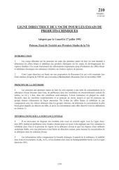 Lignes directrices pour les essais de produits chimiques / Section 2: Effets sur les systèmes biologiques Essai n° 210: Poisson, essai de toxicité aux premiers stades de la vie