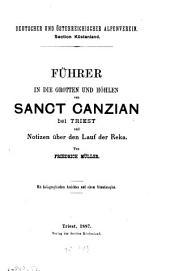 Führer in die Grotten und Höhlen von Sanct Canzian bei Triest und notizen über den Lauf der Reka