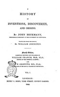 A History of Inventions  Discoveries  and Origins by John Beckmann   Traslated from the German by William Johnston PDF