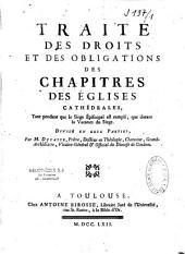 Traité des droits et des obligations des chapitres des églises cathédrales