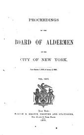Proceedings of the Board of Aldermen: Volume 156