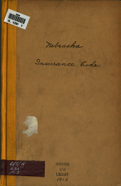 Insurance Code: Senate File 364 of the Thirty-third Session, 1913