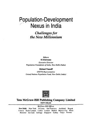Population development Nexus in India PDF