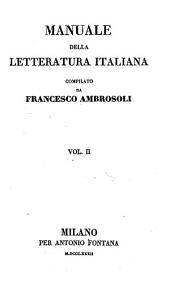 Manuale della letteratura italiana: Volume 2