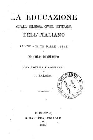 La educazione morale  religiosa  civile  letteraria dell italiano PDF