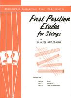 First Position Etudes for Strings PDF