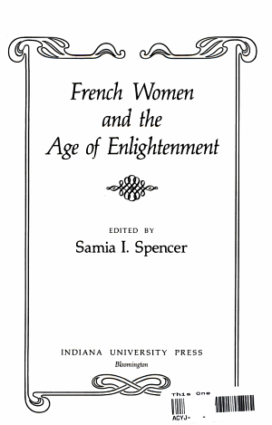 French Women and the Age of Enlightenment