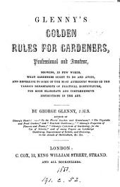 Glenny's Golden rules for gardeners