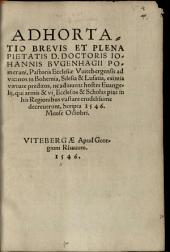 Adhortatio brevis ... ad Vicinos in Bohemia ... ne adjuvent hostes Evangelii