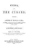 CUBA  AND THE CUBANS PDF
