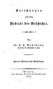Forschungen auf dem Gebiete der Geschichte: Band 1