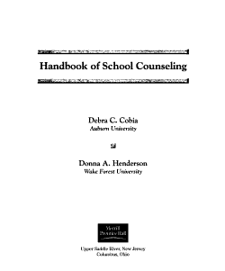 Handbook of School Counseling PDF