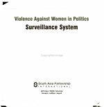 Violence Against Women in Politics  Surveillance System PDF
