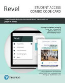 Revel for Essentials of Human Communication    Combo Access Card PDF