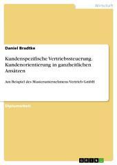 Kundenspezifische Vertriebssteuerung. Kundenorientierung in ganzheitlichen Ansätzen: Am Beispiel des Musterunternehmens Vertrieb GmbH