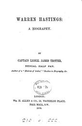 Warren Hastings: A Biography