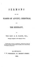 Sermons for the seasons of Advent  Christmas and the Epiphany PDF