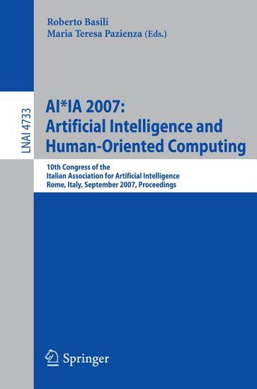AI IA 2007  Artificial Intelligence and Human Oriented Computing PDF