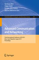 Advanced Communication and Networking PDF