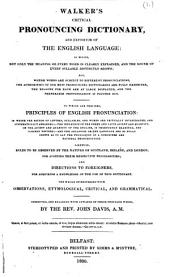Walker's Critical pronouncing dictionary ... Corrected, and enlarged with upwards of three thousand words, by the Rev. John Davis