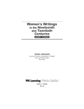 WOMEN'S WRITINGS IN THE NINETEENTH AND TWENTIETH CENTURIES: SHORT STORIES