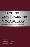 Teaching and Learning Vocabulary PDF