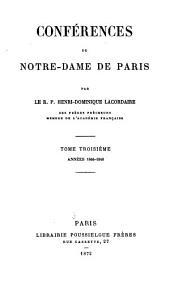 Conférences de Notre-Dame de Paris: Années 1846 - 1848, Volume3