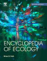Encyclopedia of Ecology PDF
