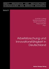 Arbeitsforschung und Innovationsfähigkeit in Deutschland