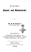 Deutsches Staats und Bundesrecht von Heinrich Albert Zachari   PDF