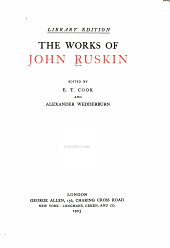 The Works of John Ruskin: Volume 8