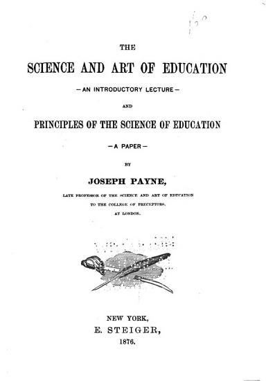 The Science and Art of Education PDF