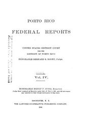 Porto Rico Federal Reports, United States District Court for the District of Porto Rico