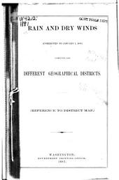 Rain and Dry Winds Computed for the Different Geographical Districts