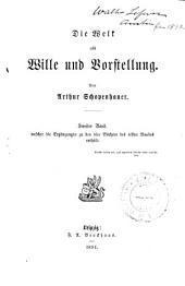 Arthur Schopenhauer's Sämmtliche werke: Band 3